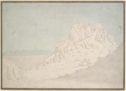 View of a Mysore hill fort.  Between 1790 and 1792